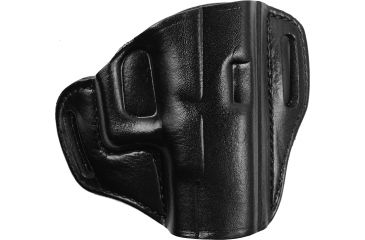 Bianchi 57 Remedy Leather Pancake Holster, Government 1911 - Black, Right Hand