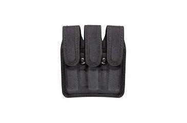Bianchi 8045 Triple Black Mag Pouch w/ Hidden Flap