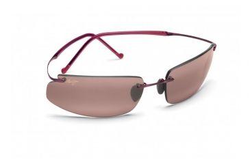 Maui Jim Big Beach Sunglasses w/ Burgundy Frame and Maui Rose Lenses - R518-07, Quarter View