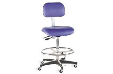 Bio Fit Cleanroom/ESD Chairs, 4W Series, BioFit 4W51KSTRVUV Class 100 Cleanroom/ESD Chairs (Ship Now! Models)