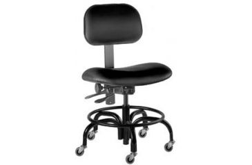 Bio Fit Economy Lab Chairs with Casters, BioFit 1P57-R With Painted Footring
