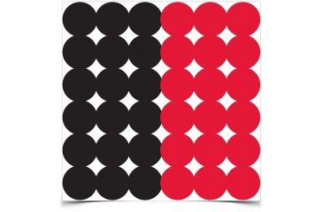 Birchwood Casey Dirty Bird 1in. 216 Red/216 Black Adhesive Target 190927