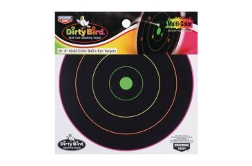 Birchwood Casey Dirty Bird Multi-Color Targets Indoor/Outdoor Use Twelve Inch Pack of Ten 35830