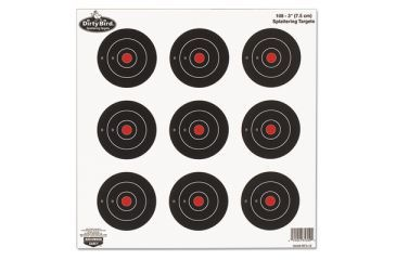 Birchwood Casey Dirty Bird Splattering Targets 3 Inch Round 9 Per Sheet 12 Sheets Per Package 35309