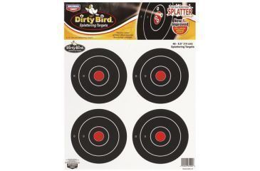 Birchwood Casey Dirty Bird Splattering Targets 5.5 Inch Round 4 Per Sheet 12 Sheets Per Package 35504