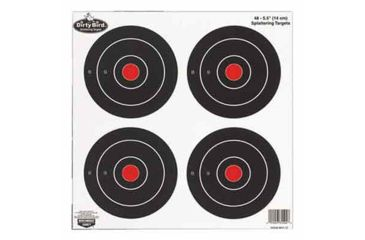 1-Birchwood Casey Dirty Bird Splattering Targets 6 Inch Round
