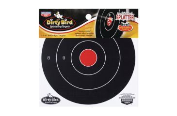 Birchwood Casey Dirty Bird Splattering Targets 8 Inch Bullseye Package of 25 35825