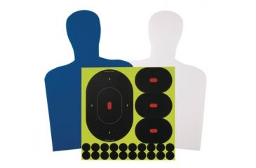 Birchwood Casey Sharpshooter Plastic Corrugated Silhouette Target Kit With Shoot-N-C Ovals and Repair Pasters 38602