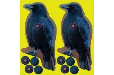 Birchwood Casey Shoot-N-C Reactive Target 8 Inch Crow 12 Per Package
