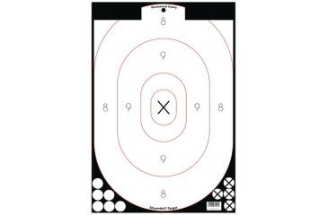 Birchwood Casey Shoot-N-C White/Black 12x18 Inch Silhouette 5 Targets Plus 90 Pasters