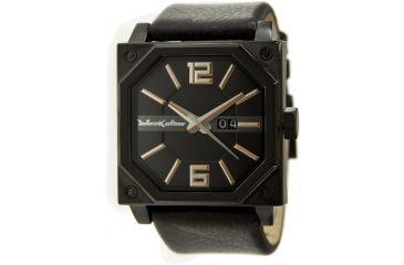 Black Dice Consortium Men's Watch - Gold Markers, Black Leather Strap BLABD-038-03