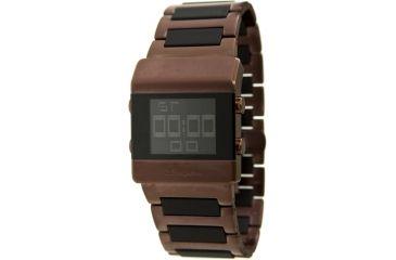Black Dice Heist Men's Watch - Electronic, Brown/Black Finish Wristband BLABD-023-03