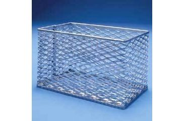 Black Machine Basket, Stainless Steel SS305/A Test Tube Basket S.S. 5X4X4IN