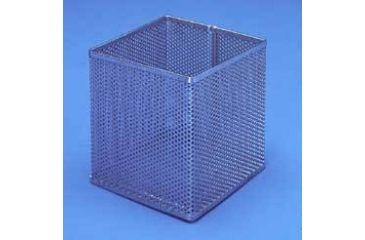 Black Machine Baskets, Perforated Aluminum PERF300/B Round