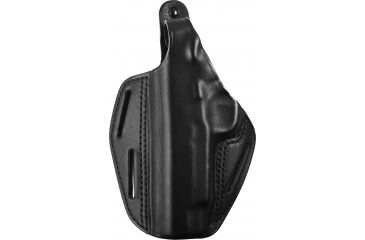 BlackHawk 3 Slot Leather Pancake Holster, Black, Left 420001BKL