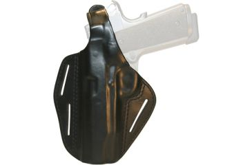 BlackHawk 3 Slot Leather Pancake Holster, Black, Left Hand - Glock 17/22/31