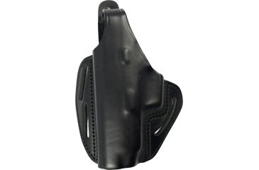 Blackhawk 3 Slot Leather Pancake Holster, Black, Left Hand - Springfield XDM