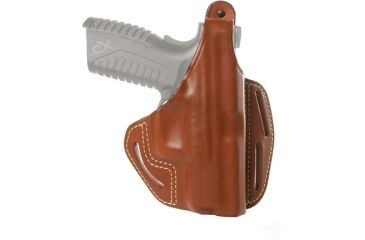 Blackhawk 3 Slot Leather Pancake Holster, Brown, Right Hand - S&W MP 9/40 Compact