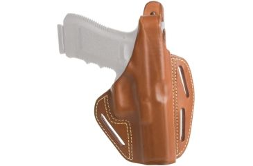Blackhawk 3 Slot Leather Pancake Holster, Brown, Right Hand - Glock 17/22/31