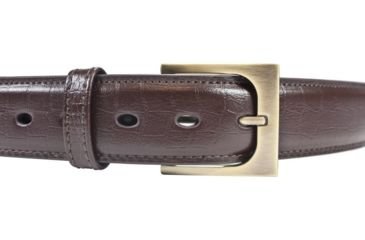 BlackHawk 4113 CQC Pistol Belt, Brown, 42in waist, Gator Finish, Antique Brass Buckle 411342GBN