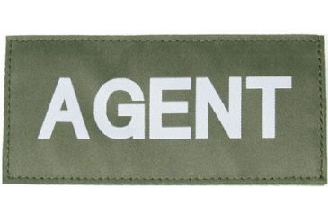 Blackhawk 90IN01 Agent Patch White on Green