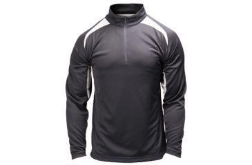 BlackHawk Athletic Zip Mock w/ Long Sleeves, Black - Front View
