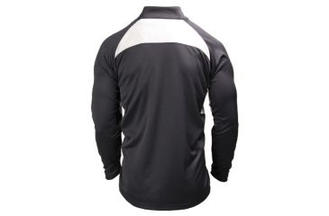 BlackHawk Athletic Zip Mock w/ Long Sleeves, Black - Back View
