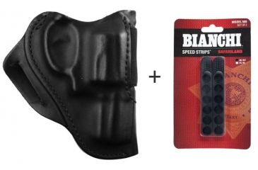 BlackHawk Leather Speed Classic Leather Holster w/ Bianchi 580 Speed Strips