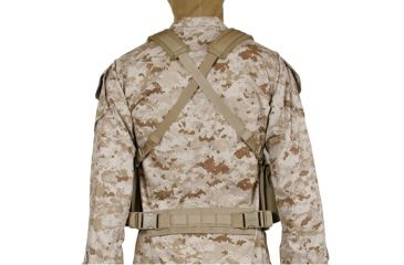 BlackHawk Tactical Commando Chest Harness Coyote Tan - Back Side