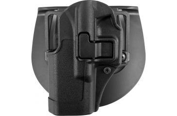 BlackHawk CQC Carbon Fiber SERPA Holster (Matte Finish w/Beltloop & Paddle), Glock 19/23/32, Black