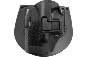 BlackHawk CQC SERPA Beltloop Paddle Holster, Left  Carbon Black 410001BKL