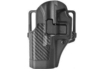 BlackHawk CQC SERPA Beltloop/Paddle Holster, Left Hand, Carbon Black - Glock 19/23/32 - 410002BK-L