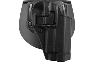 BlackHawk CQC SERPA Holster, Beltloop, Paddle, Right, Black 410506BKR