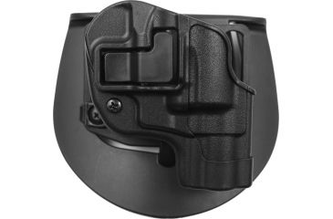 BlackHawk CQC SERPA Holster, Beltloop, Paddle, Right, Black, 410520BKR