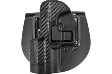 BlackHawk CQC SERPA Holster - Carbon Fiber Finish, H&K USP Compact, Black, Left Hand