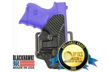 BlackHawk CQC SERPA Holster - Carbon Fiber Finish w/ Beltloop & Paddle - 2009 Brilliance Awards Customer Choice Winner: Holster of the Year