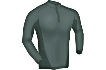 Blackhawk Engineered Fit Shirt-LS 1/4 Zip, Color -  Foliage Green, Size -  Large, 84BS01FG-LG