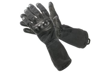 Blackhawk Fury HD w/ Kevlar Gloves, Black, Large