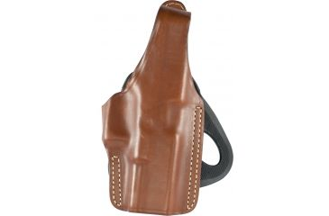 Blackhawk Leather Angle-Adjustable Paddle Holster, Brown, Right Hand,