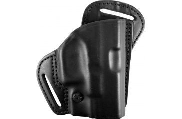 BlackHawk Leather Check-Six Behind the Back Belt Slot Plain Black Holster