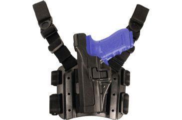 BlackHawk Tactical SERPA Thigh Drop Leg Holster - Left Hand, Black 430504BK-L