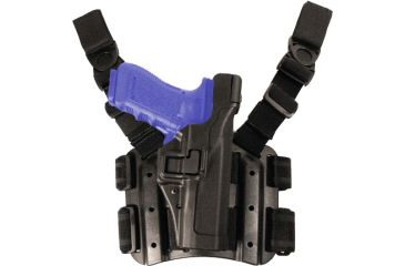 Blackhawk Serpa Tactical Level 3 Thigh Holster, Black, Right Hand - H&K P-30