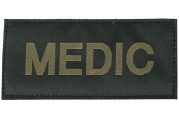 Blackhawk! Medic Patch, Green on Black