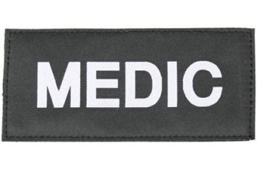 Blackhawk Medic Patch, White on Black