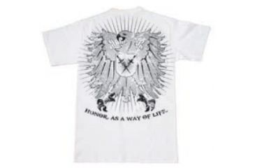 BlackHawk Men's Crest T-Shirt, White, 2XL 90GT03WH-2XL