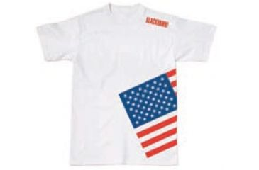 BlackHawk Men's Memory T-Shirt w/ Colored Flag, White, Small 90GT04WH-SM