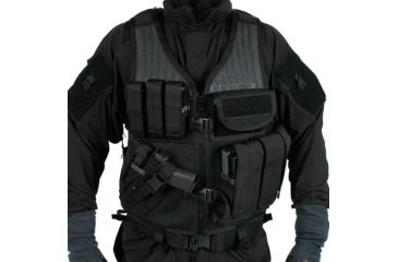 Blackhawk Omega Elite Vest Cross Draw/Pistol Mag-Left, Black 30EV26BK-L