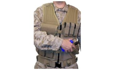 Blackhawk Elite Omega Cross-Draw Tactical Vest, Coyote Tan