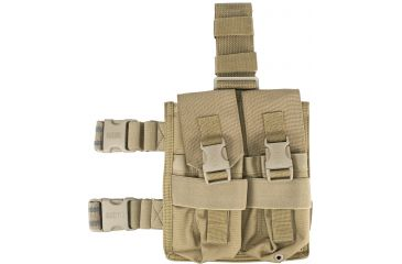 BlackHawk OMEGA M-16/AR15 Four Magazine Pouch w/ Dividers and Elastic Retention, Coyote Tan