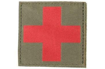 Blackhawk Red Cross ID Patch, Foliage Green